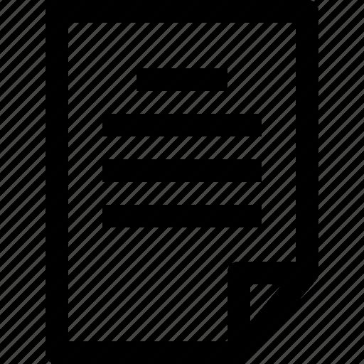document, file, folder, text icon