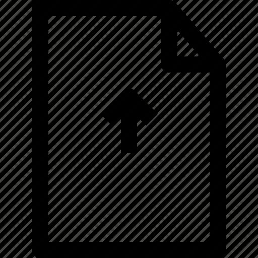 arrow, document, file, folder, up icon