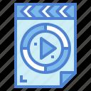 file, film, movie, multimedia, reel, video