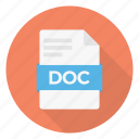 doc, extension, sheet, format, file icon