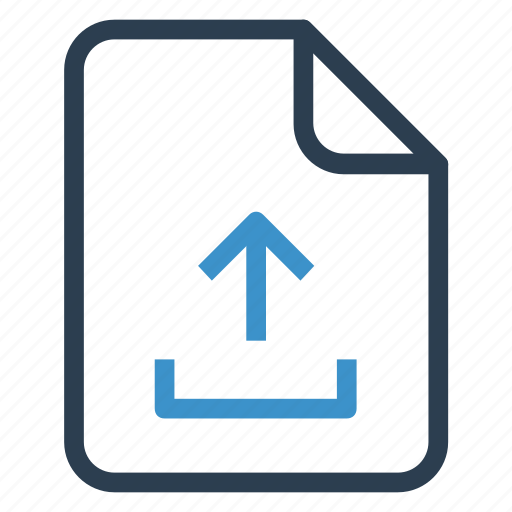 document, documentation, file, paper, record, sheet, upload icon