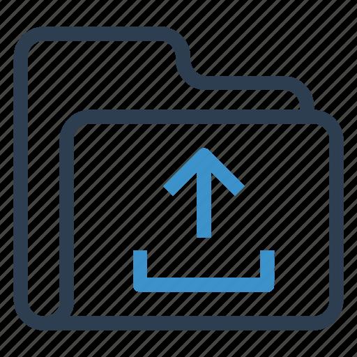 archive, data, folder, storage, upload icon