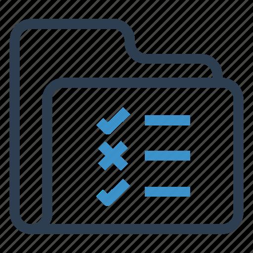 archive, checklist, data, folder, storage icon