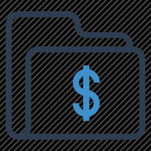 archive, data, dollar, folder, storage icon