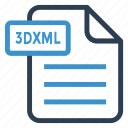 3dxml, document, documentation, file, paper, record, sheet icon