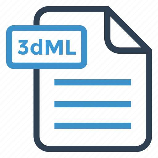 3dml, document, documentation, file, paper, record, sheet icon