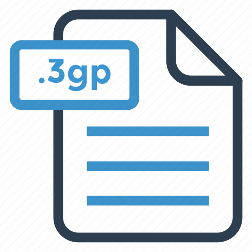 3gp, document, documentation, file, paper, record, sheet icon