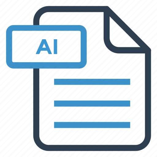 ai, document, documentation, file, paper, record, sheet icon