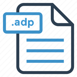 adp, document, documentation, file, paper, record, sheet icon