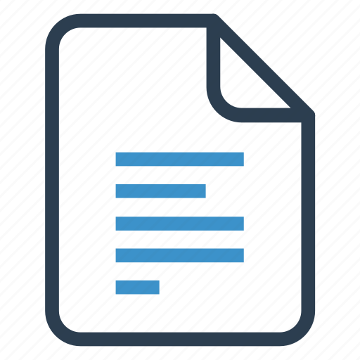 align, document, documentation, file, paper, record, sheet icon