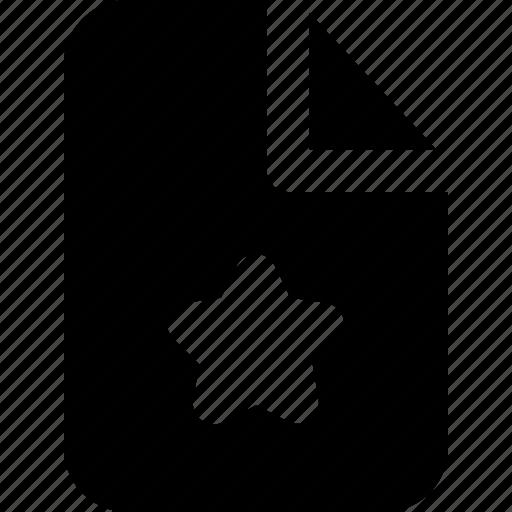 document, file, folder, office, rating, star, user icon