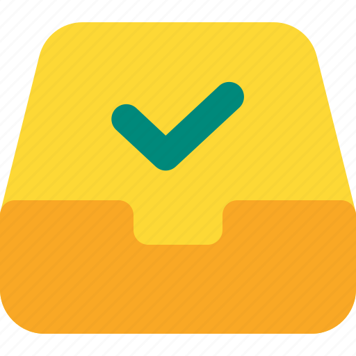 approved, document, file, folder, inbox, office icon