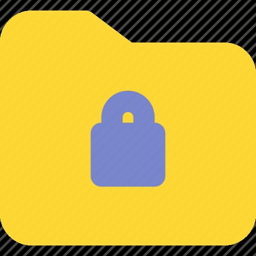 archive, document, file, folder, lock, office, padlock icon