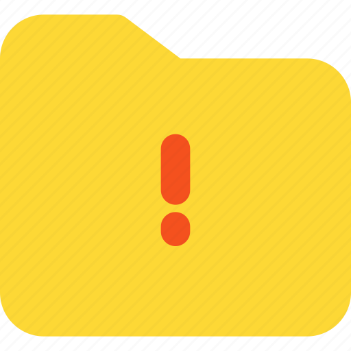 archive, document, file, folder, office, warning icon