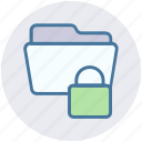 documents, folder, folder lock, password, secure icon