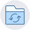 document, files, folder, loading, sync icon