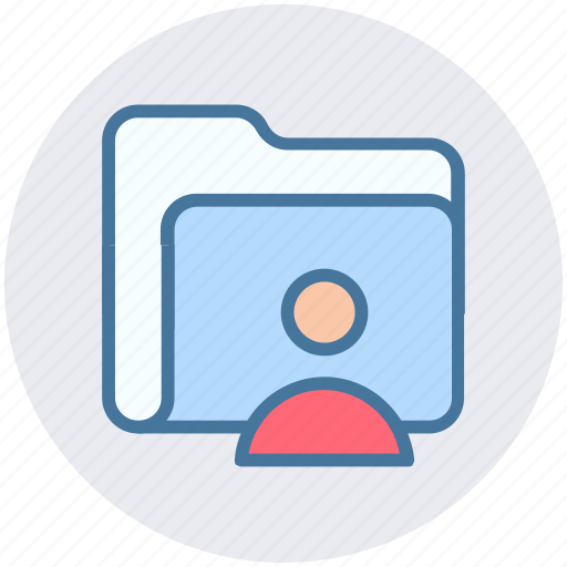 business record, business record management, folder man, record manager, user icon