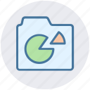 chart, data, diagram, folder, graph, graphics icon