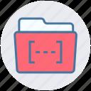 bracket, category, document, file and folder, folder