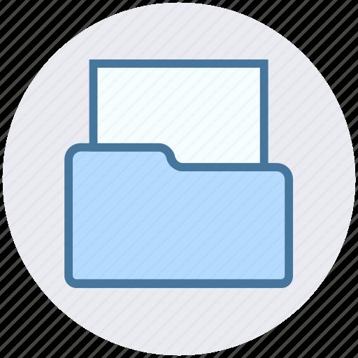 archive, documents, empty folder, folder, office, storage icon