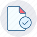 check, check file, document, file, good icon