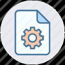 document, file, gear, setting, setup, system