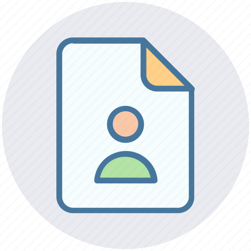contact, copyright, document, file, profile, user icon