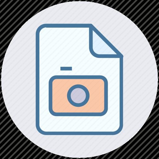 camera, file, image, paper, photo icon
