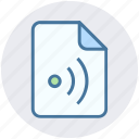 connected, document, file, online, signal, wifi icon