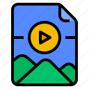 archive, document, file, gif icon