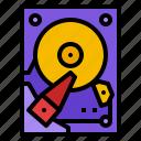 data, disk, drive, file, hard icon
