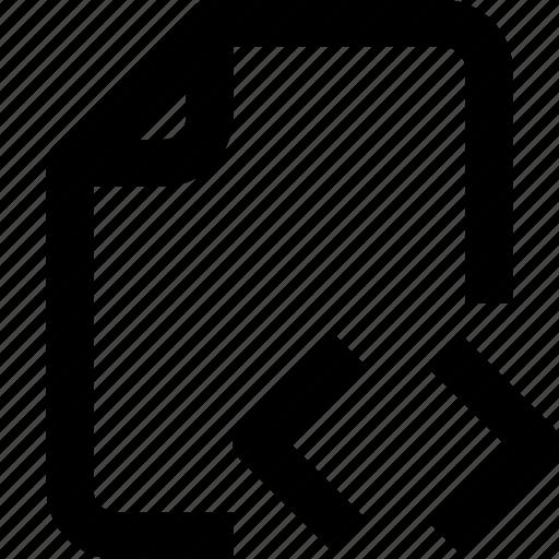 code, develop, file, folder, interface, paper, ui icon