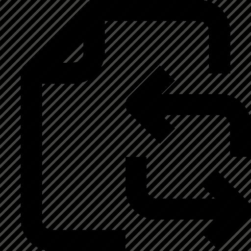 arrow, document, file, folder, interface, refresh, ui icon