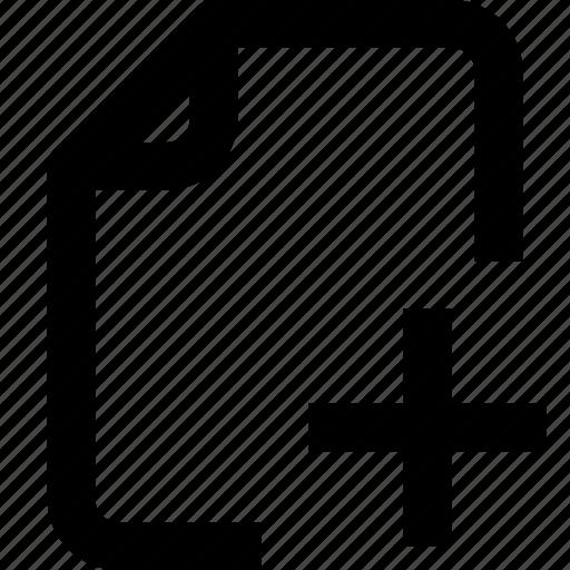 add, document, file, folder, interface, paper, ui icon