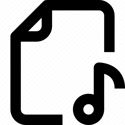 document, file, folder, interface, music, sound, ui icon