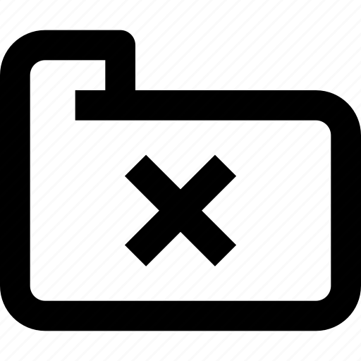 delete, document, file, folder, folder icon, interface, ui icon