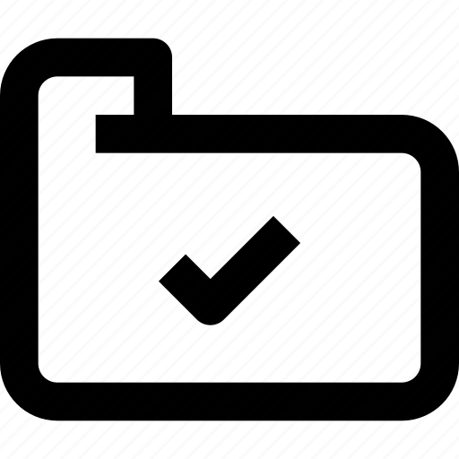 check, document, file, folder, folder icon, interface, ui icon