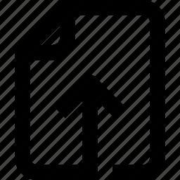 arrow, document, file, folder, interface, paper, ui icon