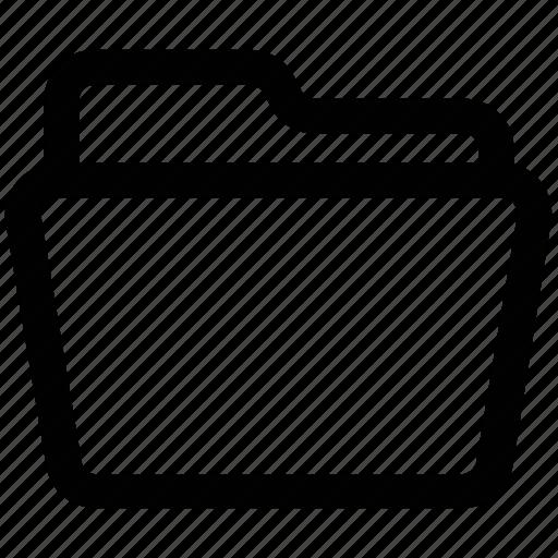 1, archive, documents, empty folder, folder, folder open, office icon