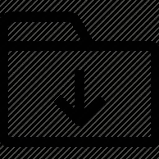 .svg, download, folder, in, inside, interface, open icon