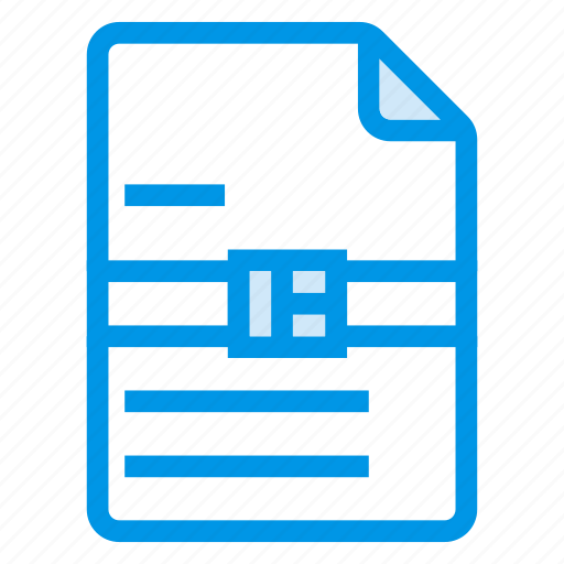 document, documentation, documentfile, documentrecord, file, recordfiles, zip icon