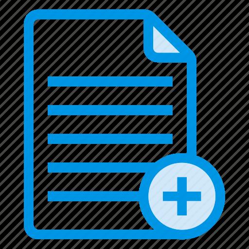 add, document, documentation, documentfile, documentrecord, file, recordfiles icon
