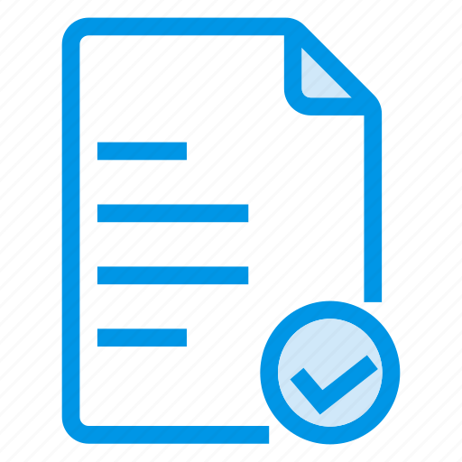 check, document, documentation, documentfile, documentrecord, recordfiles, text icon