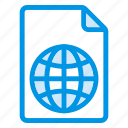 document, documentation, documentfile, documentrecord, file, globe, recordfiles icon