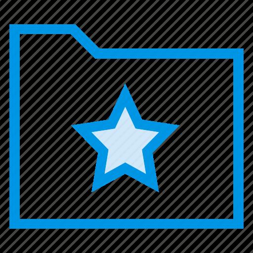 directory, documentcase, filescatalog, folder, jacket, portfolio, star icon