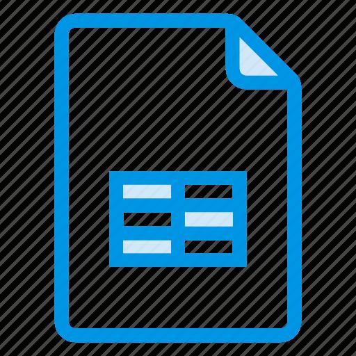 document, documentation, documentfile, documentrecord, file, recordfiles, table icon