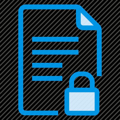 document, documentation, documentfile, documentrecord, file, lock, text icon