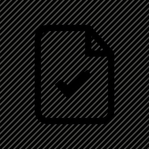 approve, approved file, check file, check mark, correct file, file, file approve icon