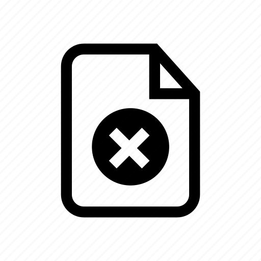delete file, file, file incorrect, incorrect, incorrect file, remove file, wrong file icon