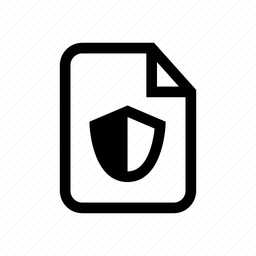 file, file lock, file protect, file secure, protect, protected file, shield icon icon